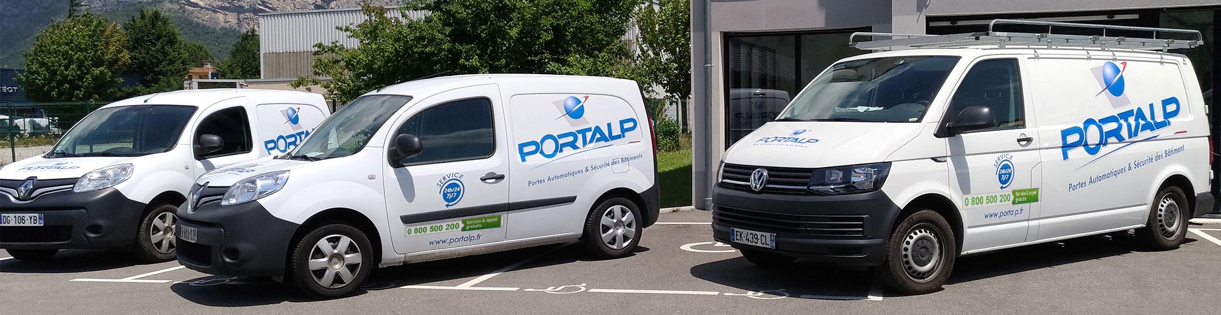 Flotte de véhicules de maintenance Portalp