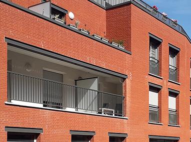 Menuiseries aluminium et garde-coprs pour 40 logements à Comines