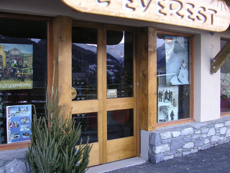 Porte de magasin automatique en bois