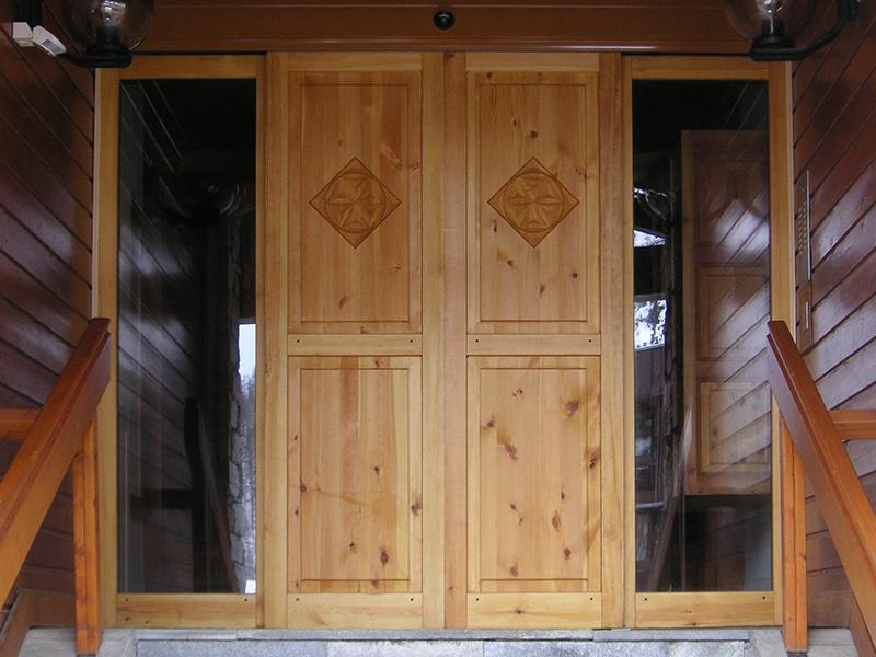 Portes pleines automatiques en bois