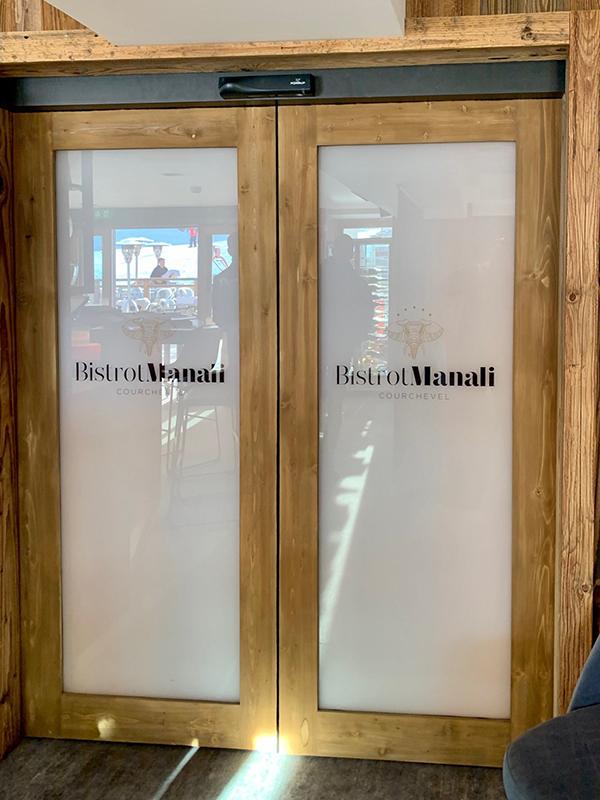 Portes vitréés mixte bois et vitrage décoratif