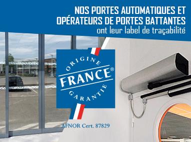 Portalp labellisé Origine France Garantie