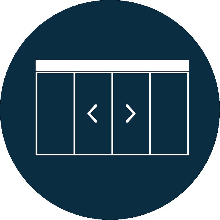 Porte automatique coulissante simple ou double