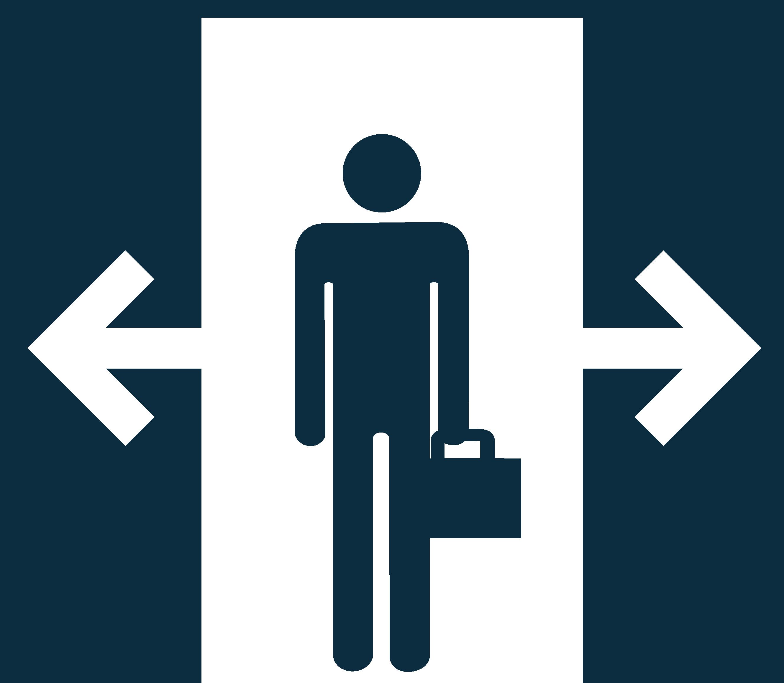 Porte automatique piétonne à ouverture sans contact
