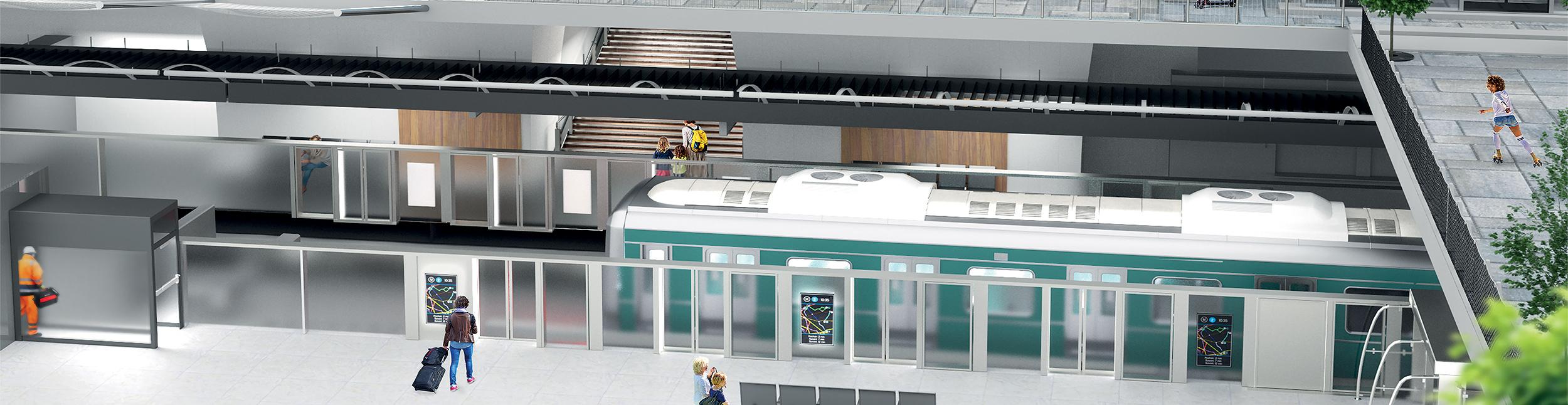 Portalp, fabricant de portes palières de quai de métro